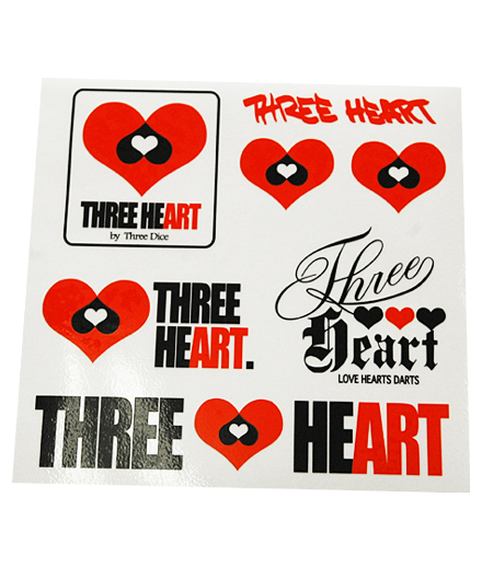 THREE HEART ステッカー [TH-001]